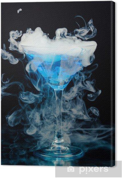 Quadro su Tela Cocktail blu con spruzzata di ghiaccio e vapore - Feste  Internazionali da4dfe54ed6