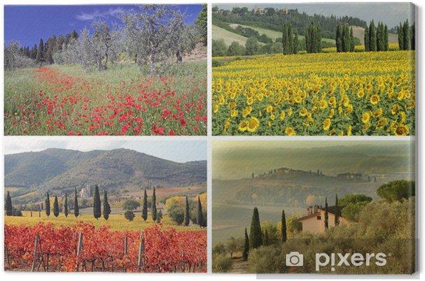 Quadro su Tela Collage quattro stagioni con spettacolari immagini di ...