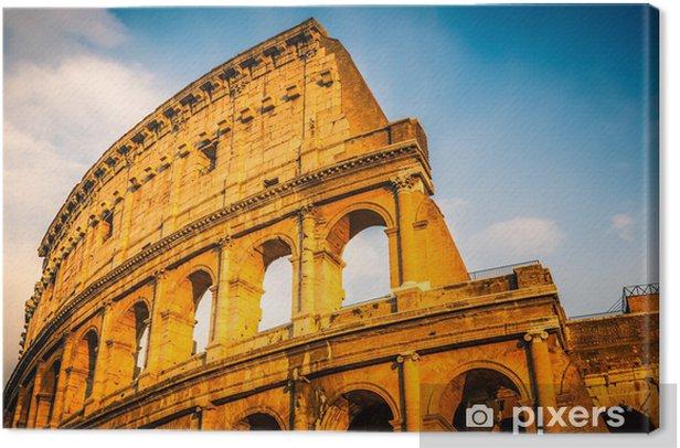 Quadro su Tela Colosseo al tramonto - Temi