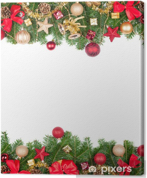 Cornici Foto Di Natale.Quadro Su Tela Cornice Di Natale Con Spazio Libero Per Il Testo