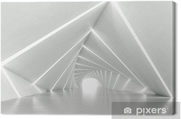 Quadro su Tela Corridoio torto bianco astratto, rendering 3d - Hobby e Tempo Libero