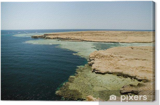 Quadro su Tela Costa meridionale della penisola del Sinai. - Africa
