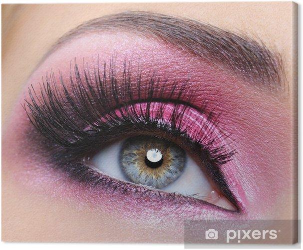 Quadro su Tela Crimsom make-up degli occhi e le ciglia lunghe - Temi