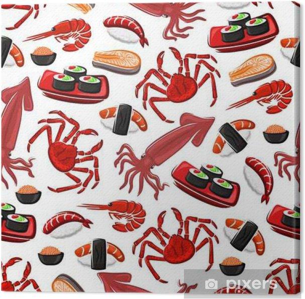 Quadro su Tela Cucina di mare giapponese seamless pattern • Pixers ...