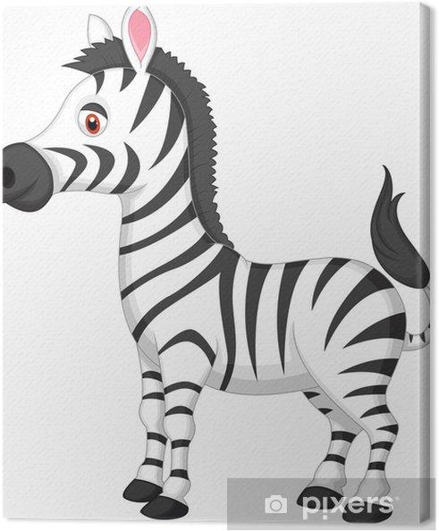Quadro su tela cute zebra cartone animato u2022 pixers® viviamo per il