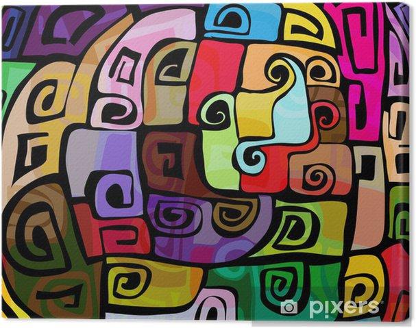 Quadro su Tela Design colorato moderno • Pixers® - Viviamo per il ...