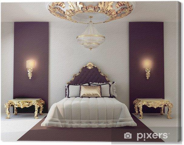 Quadro su Tela Di lusso camera da letto matrimoniale con mobili d\'oro in  royal interni