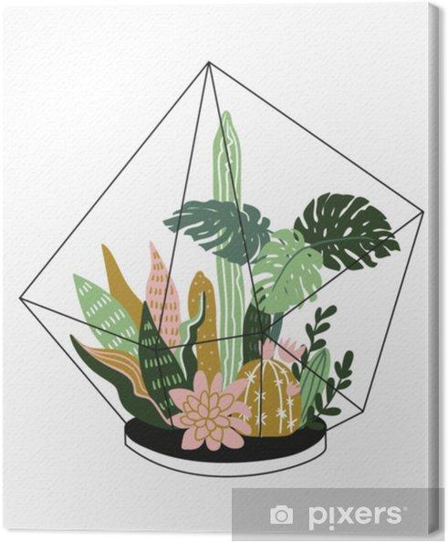 Quadro su tela disegnato a mano conteneva piante da for Arredamento casa elegante