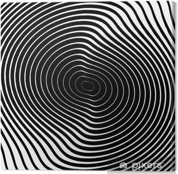 Quadro Su Tela Disegno In Bianco E Nero Vortice Movimento Circolare