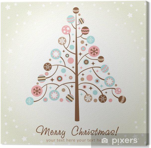 Immagini Natalizie Stilizzate.Quadro Su Tela Disegno Stilizzato Albero Di Natale