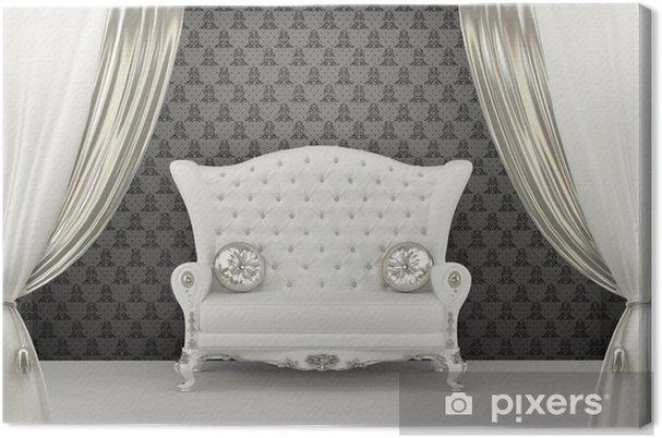 Divano Maria Rosaria : Quadro su tela divano di lusso con cuscini prima di ornamento della