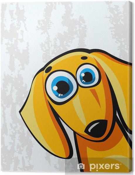 Quadro su tela divertente cartone animato cane bassotto u2022 pixers