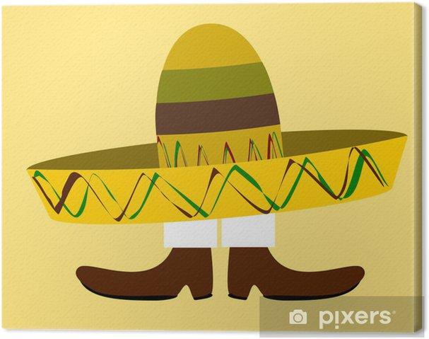 Quadro su Tela Divertente cartone animato con un grande sombrero corpo  copertura mans - Uomini. da28 € 2bf262193145