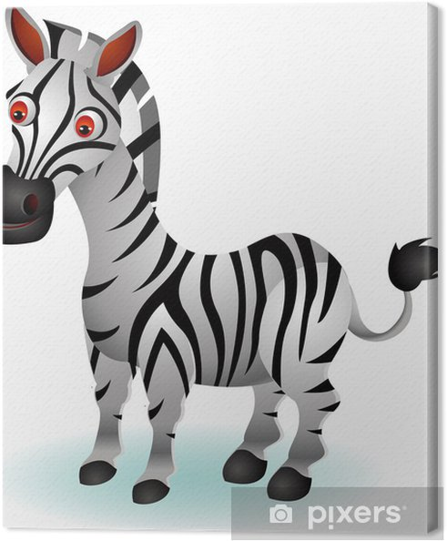 Quadro su tela divertente cartone animato zebra u2022 pixers® viviamo