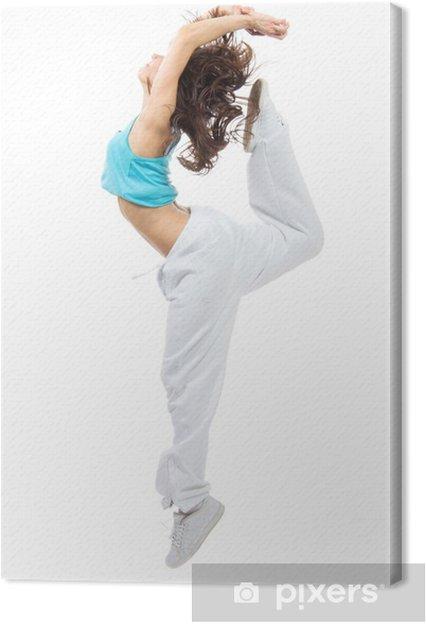 sports shoes fe491 cc77a Quadro su Tela Donna sportiva moderno stile hip-hop sottile ragazza  adolescente saltando danc
