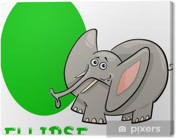 Quadro su tela ellisse forma con elefante cartone animato u2022 pixers