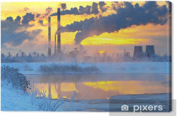 Quadro su Tela Environmental pollution.Industrial business. - Industria pesante