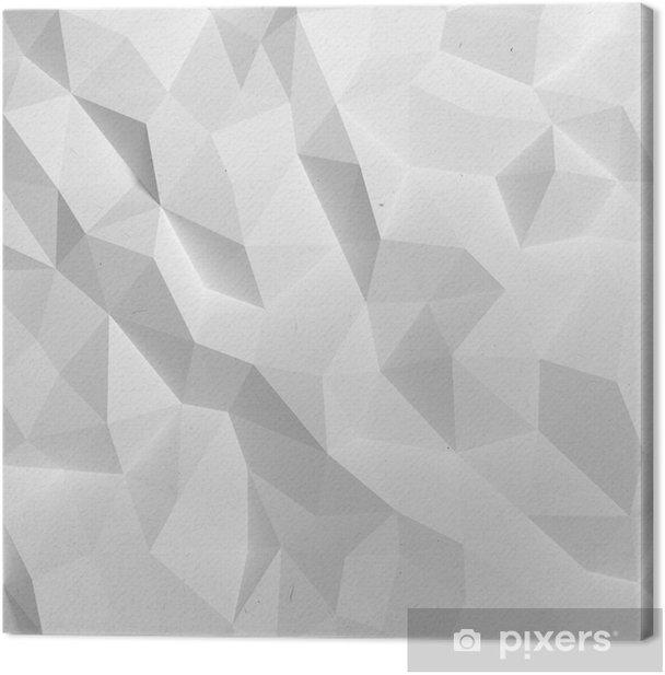 Quadro su Tela Estratto triangolo bianco 3D geometrico sfondo di carta - Stili