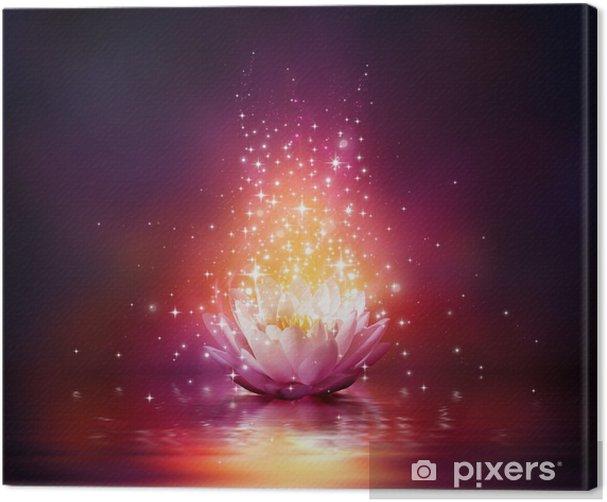 Quadro su Tela Fiore magico su acqua - Per centro benessere