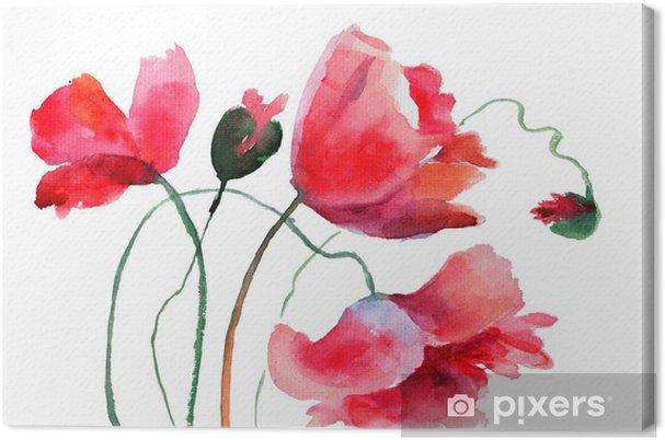 Quadro su Tela Fiori stilizzati Poppy • Pixers® - Viviamo per il ...