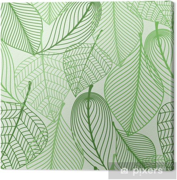 Quadro su Tela Foglie verdi sfondo seamless - Stili