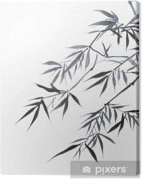 Quadro su Tela Foglio di bambù - Stili