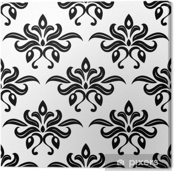 Quadro su Tela Foliate Moderno bianco e nero modello arabesque ...