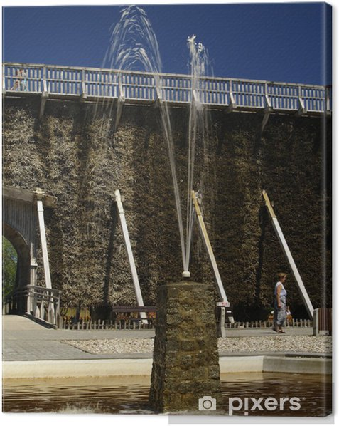 Quadro su Tela Fontana a getto - Arte e Creazione