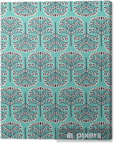 Quadro su Tela Foresta Seamless pattern -