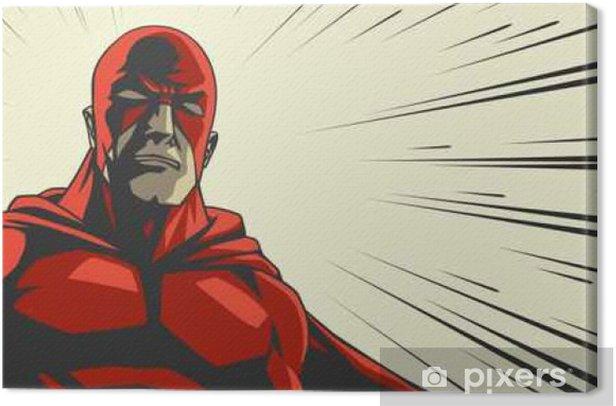 Quadro su Tela Fumetto di supereroi in maschera rossa - Persone