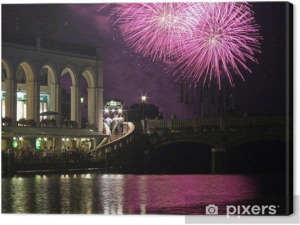 Quadro su Tela Fuochi d'artificio sul lago Alster VIII - Europa