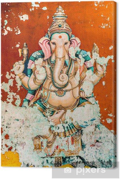 Quadro su Tela Ganesh antico affresco - Religioni