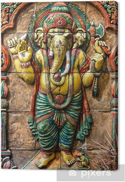 Quadro su Tela Ganesha Dio indù al tempio in Thailandia - Sfondi