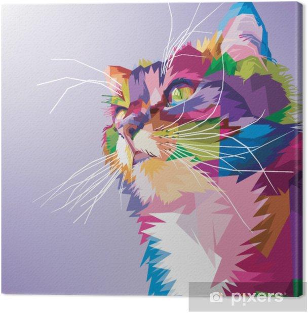 36764 GATTI POP ART seduti Multicolore Graffiti-Design Gatto colorato altezza 29cm
