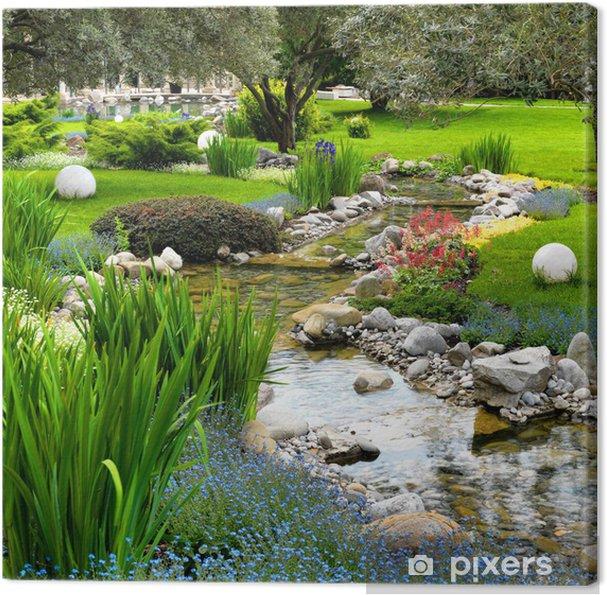 Quadro su Tela Giardino con laghetto in stile asiatico • Pixers ...