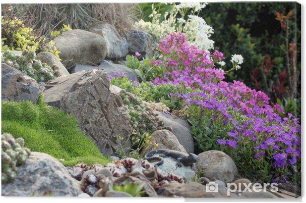 Quadro su tela giardino roccioso con piante grasse for Giardino roccioso con piante grasse