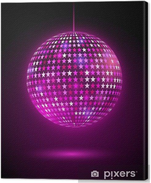 Immagini Palla Da Discoteca.Quadro Su Tela Glowing Palla Da Discoteca Con Le Stelle