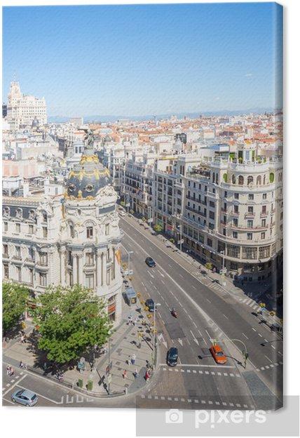 Quadro su Tela Gran Via Madrid Spagna - Città europee