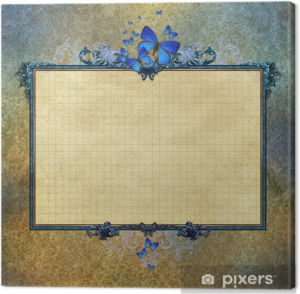 Quadro su Tela Grunge background Vintage con cornice • Pixers ...
