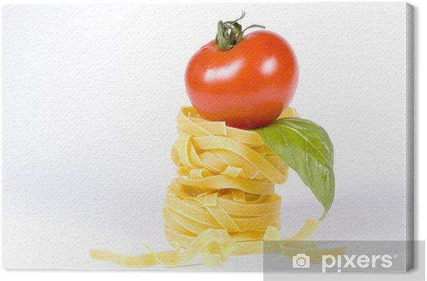 Quadro su Tela Gustare la vostra cena di pasta -