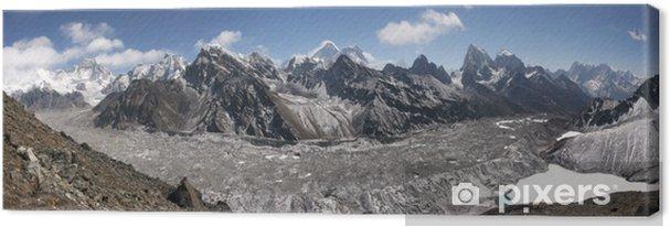 Quadro su Tela Himalaya panorama, lago Gokyo, Cho Oyu, Chomolungma, Mt. Everest - Temi