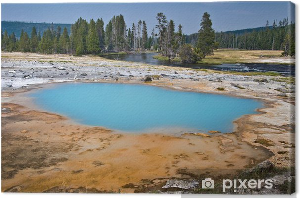 Quadro su tela hot springs yellowstone national park stati uniti