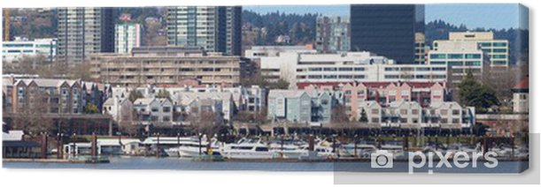 Quadro su Tela Il panorama lungomare marina, Portland Oregon. - America