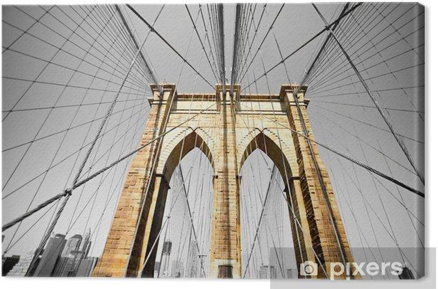 Quadro su Tela Il ponte di Brooklyn, New York. Stati Uniti d'America. -