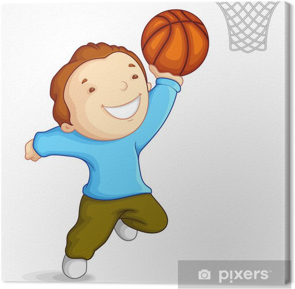 Quadro Su Tela Illustrazione Vettoriale Di Bambino Che Gioca Con Il