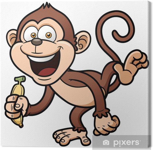 Quadro su tela illustrazione vettoriale di cartone animato scimmia