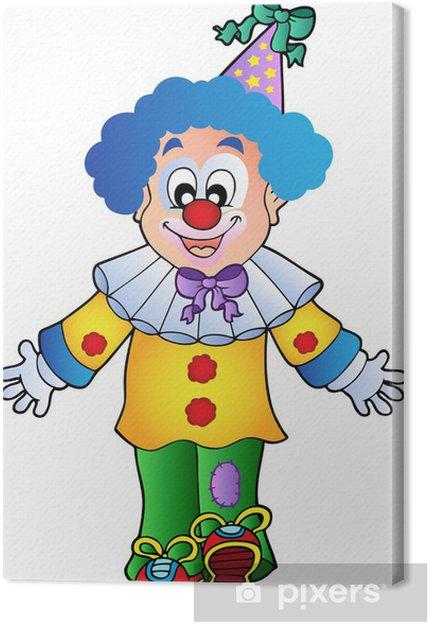 ordinare on-line comprare a buon mercato più recente Quadro su Tela Immagine di clown cartoon 1