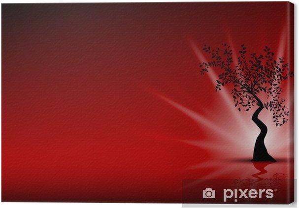 Quadro Su Tela Immagine Vettoriale Disegno Floreale Nero Su Sfondo