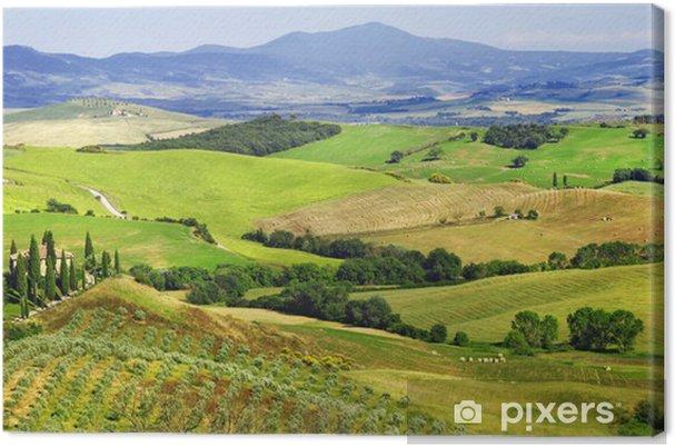 Quadro su Tela Incredibili paesaggi della Toscana, val d\'Orcia ...