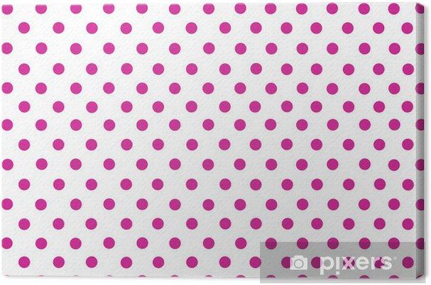 Quadro Su Tela La Profonda Pois Rosa Con Sfondo Bianco Pixers